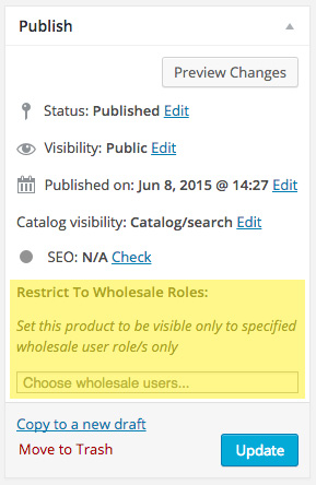 Restrict Wholesale Visibility