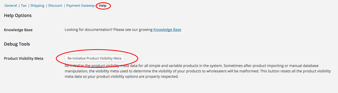 Re-initialize Product Visibility Meta
