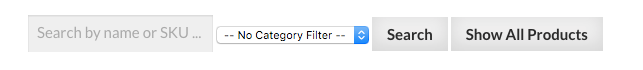 No Category Filter Drop Down
