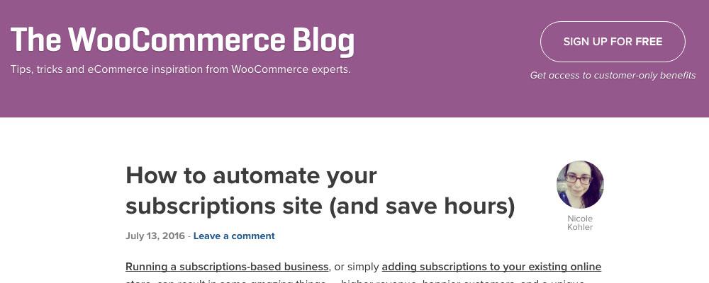 WooCommerce Blog marketing blogs