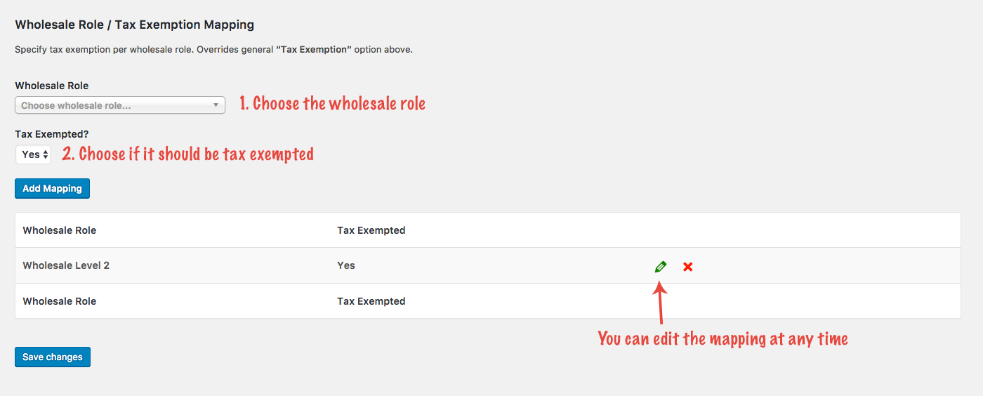 Tax Exemption per wholesale user role in WooCommerce