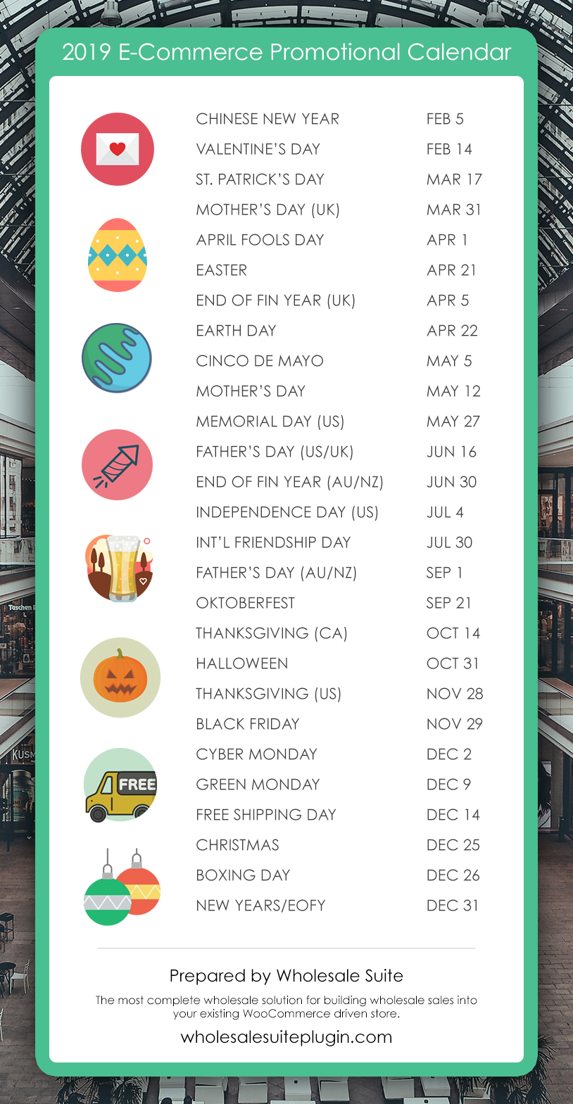 2019 E-Commerce Promotional Calendar: Holidays and Key Sales Dates (Updated)