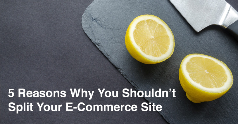 Why You Shouldn't Split Your Wholesale Site