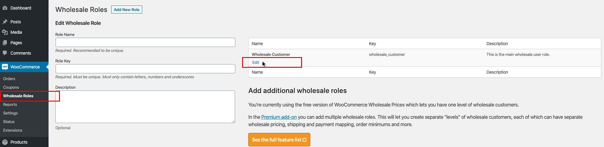 WooCommerce Wholesale Roles