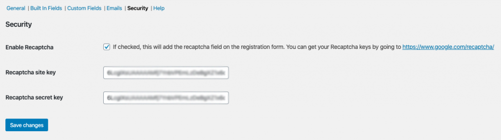 Wholesale Registration Form Security