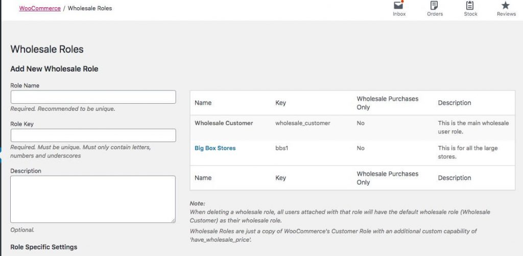 Managing wholesale roles in WooCommerce.
