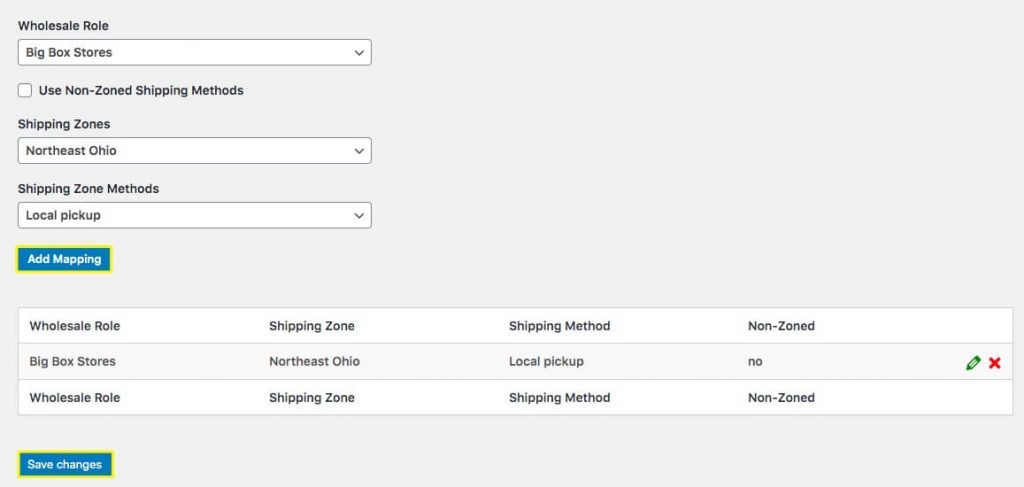 Mapping role-based shipping in WooCommercer.