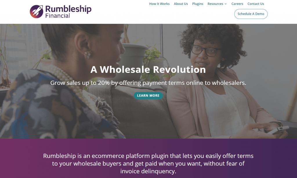 The Rumbleship Financial website.
