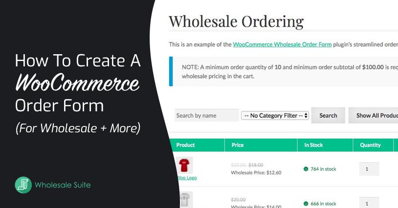 WooCommerce Order Form