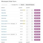 WooCommerce Wholesale Order Form