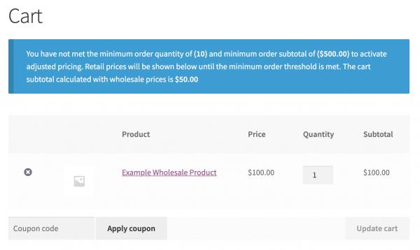 Minimum Order Requirements Notice
