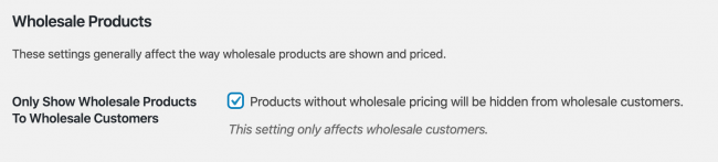 Only Show Wholesale Products WooCommerce